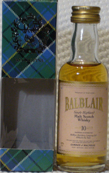 Balblair Single Highland Malt Scotch Whisky Years Old 10
